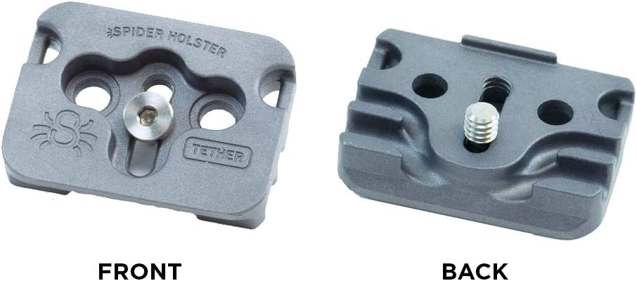 Camera Plate That Provides Safe Operation with an Attached high-Speed Cable Tether. Tether Cable Plate Spider Holster