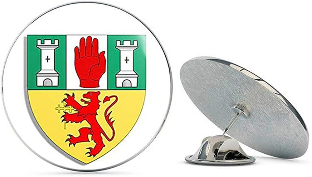 Metal 0.75 Lapel Hat Pin Tie Tack Pinback Antrim Coat of Arms Northern Ireland County