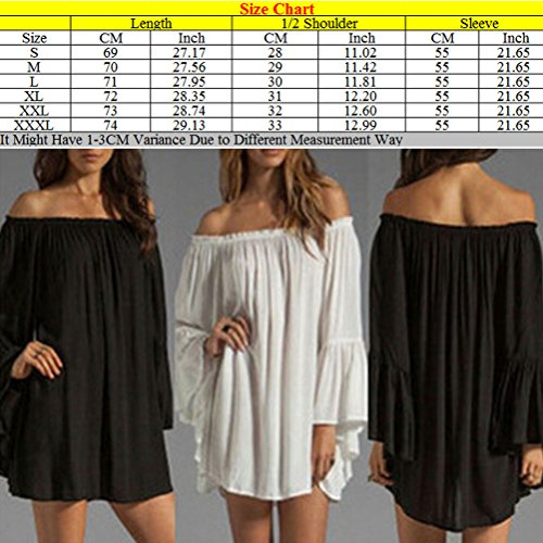 Zhhlinyuan Casual Ropa Popular Womens Off Shoulder Loose Leaf Sleeves Chiffon Dress Strapless Dresses 4 Color Black