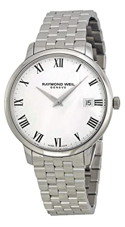 Raymond Weil 'Toccata' Swiss Quartz Stainless Steel Casual Watch, Color:Silver-Toned (Model: 5588-ST-00300)