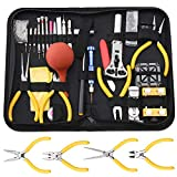 Professional Watch Repair Tool Kit - 141pcs Watchmaker Tool Kit, Including Watch Back Case Holder Opener Link Remover Spring Bar Tool Set and More, Storaged in Carry Case (141pcs)
