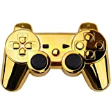 New Chrome Gold Wireless Controller Shell Cover Housing w/ Buttons for Sony Ps3
