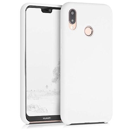 codice promozionale 59539 182ff kwmobile Huawei P20 Lite Cover - Custodia per Huawei P20 Lite in Silicone  TPU - Back Case Cellulare Bianco