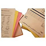 8-1/2'' x 11'' Pre-Collated 20# Colored Paper, 2500 White / Canary Sets (Carton of 5000 Sheets)