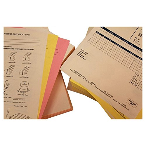 8-1/2'' x 11'' Pre-Collated 20# Colored Paper, 2500 White / Canary Sets (Carton of 5000 Sheets) by The Business Form Supplies Shop