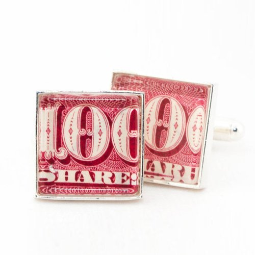 Authentic-Vintage-Red-Stock-Certificate-Cufflinks