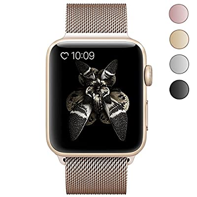 Lelong Apple Watch Band 38mm 42mm,Milanese Loop Fully Magnetic Clasp Stainless Steel Mesh iWatch Band for Apple Watch Series 3 Series 2 Series 1 Sport & Edition