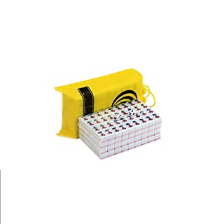NuoEn La Borsa del Mini Gioco da Viaggio Mahjong Set Materiale Acrilico Leggero mAh-Jongg Family Tempo Libero Giocattoli Giochi 144 Piastrelle Rosa o Verde o Blu 22 MM ( Color : Pink )