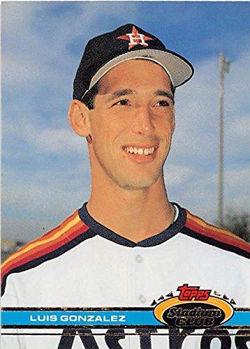Gonzalez Luis Baseball (Luis Gonzalez baseball card (Houston Astros All Star) 1991 Topps Stadium Club #576 Rookie Season)