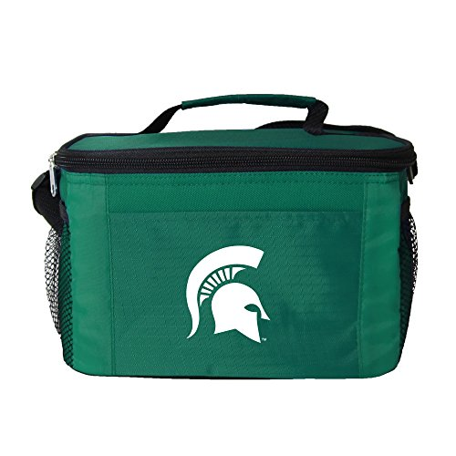 NCAA Michigan State Spartans Insulated Lunch Cooler Bag with Zipper Closure, Green