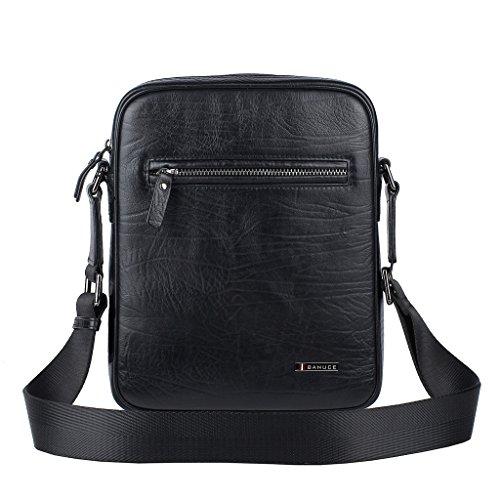 M Bag Messenger Men's Banuce For Business Genuine Leather Shoulder Work Size IXvq1v