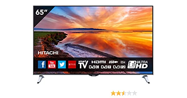 Hitachi 65HZ6W69 65-Pulgadas UHD 4K DVB-T2 S2 SMART LED TV: Amazon.es: Electrónica