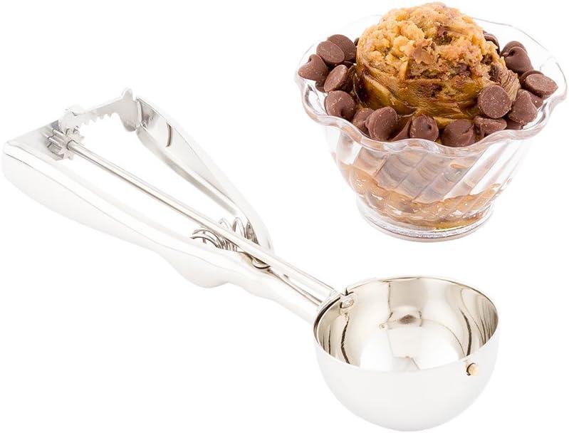 #16 (1.83 oz) Ice Cream Scoop, Cookie Scoop, Portion Control Scoop - Squeeze Handle for Food Release - Stainless Steel - Met Lux - 1ct Box - Restaurantware