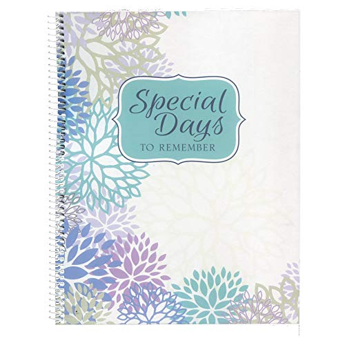 - Monthly Greeting Card Keeper and Organizer Book - Special Days to Remember - Stylistic Flowers