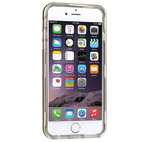 Custodia iPhone 6 Plus / iPhone 6S Plus (5,5 pollice), HB-Int 3 in 1 Ultra Slim Custodia Shell Custodia Morbida Case Flessibile TPU Gel Bumper Stampato Design PC+ Silicone Ibrido Impatto Caso Ultra So