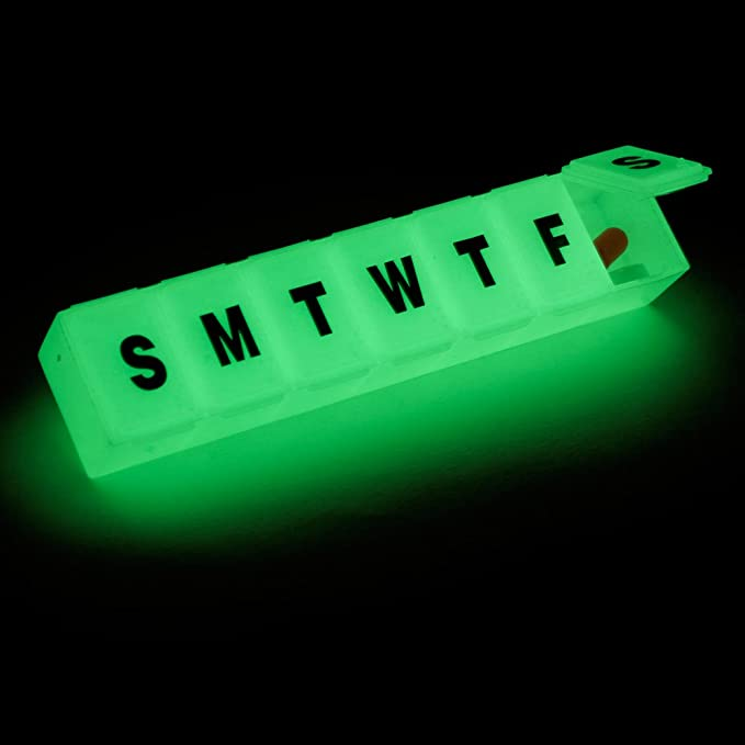 7 Day Glow in the Dark Pill Reminder Box