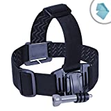 spinning harness - Action Cam Head Strap Action Mount with J Hook and Tripod Adapter by USA Gear - Works With Kodak PIXPRO SP1 , Vivitar Full HD Action Camera , Ricoh WG-M1 Black Waterproof Action Video Camera & More