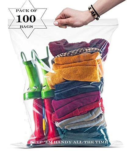 - 99 Big Large Strong Clear Zip in Lock Storage Bags, 16