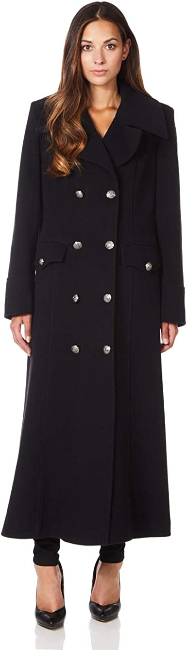 De La Creme MAN Men/'s Wool Mix Military Style Epaulettes Single Breasted Coat