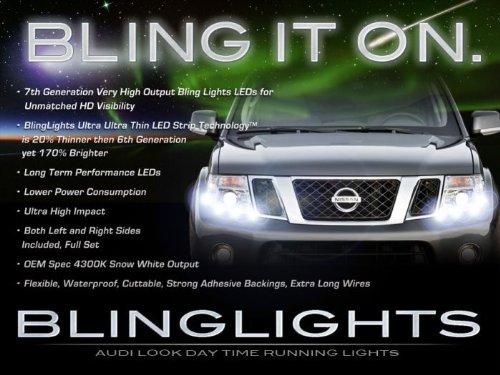 [해외]1998-2017 닛산 프론티어 LED DRL 머리 빛 스트립 일 시간 실행 램프 / 1998-2017 Nissan Frontier LED DRL Head Light Strips Day Time Running Lamps