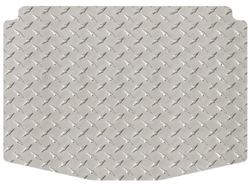Intro-Tech Diamond Cargo Area Custom Floor Mat for Select Volkswagen Passat Models - Simulated Aluminum (Silver)