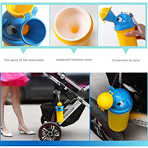 Yellow Prince ForuMall Portable Baby Child Potty Urinal Emergency Toilet for Camping Car Travel and Kid Potty Pee Training