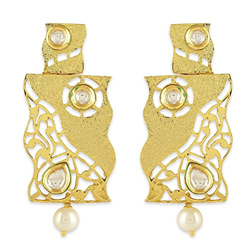 AccessHer Gold Color Brass Material Geometrical filigree ()
