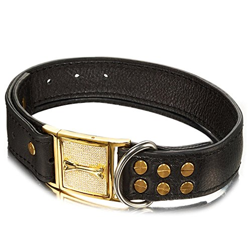 Abaxaca Genuine Leather Dog Collar Wide 1.4