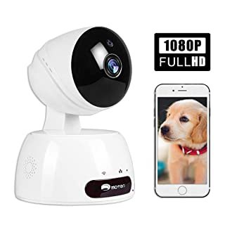 Dog Pet Camera, Cat WiFi IP Camera, HD 1080P Wifi Pet Camera Indoor Security Pet Monitor Dog Camera with Night Vision 2 Way Audio Motion Detection, Home Baby Monitor Nanny Cam with Smart Pan/Tilt/Zoom
