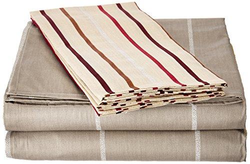 (DaDa Bedding FTST8293 2-Piece Stripe Cotton Sheet Set, Twin)