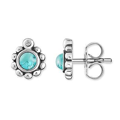 e6b76e57c Thomas Sabo Women-Earstuds Glam & Soul 925 Sterling silver white Diamond  simulated Turquoise D_H0004-357-17: Amazon.co.uk: Jewellery