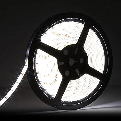 LEDMO 5630 Flexible Led Strip, Daylight 300pcs SMD 5630LEDs 16.4Ft DC12V Waterproof IP65 25Lm/LED,2 times brightness than SMD5050 LED Ribbon, LED Tape Light by LEDMO