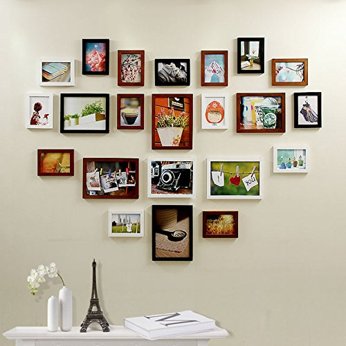 Solid wood photo frame Creative wall hanging photo frame Combination photos box C A by Unknown