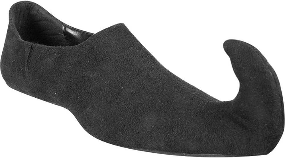 Adult Black Renaissance Curved Toe Shoes Medium