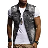 Best Fits For Men - Aurorax-shirts 2018 Mens Jacket,Regular Fit Casual Destroyed Sleeveless Review
