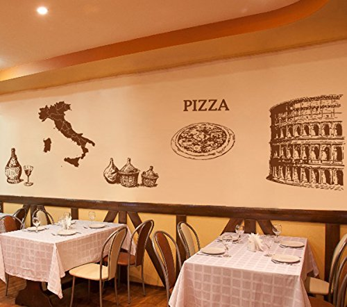 Ik wall decal sticker pisa coliseum pizza pizzeria