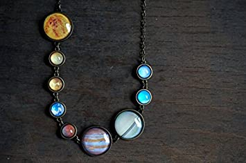 Amazon solar system necklace planet necklace space jewelry solar system necklace planet necklace space jewelry cabochon necklace galaxy antique brass necklace gift for her mozeypictures Gallery