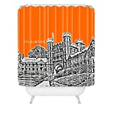 Deny Designs Bird Ave Princeton University Orange Shower Curtain, 69'' x 72''