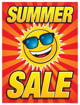 P15SUN Holiday Seasonal Summer Sale Sun Design Vinyl Window Sale Sign Posters Retail Business Store Signs (P15-22