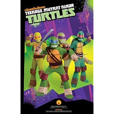 Teenage Mutant Ninja Turtles Deluxe Michelangelo Costume, Small: Toys & Games