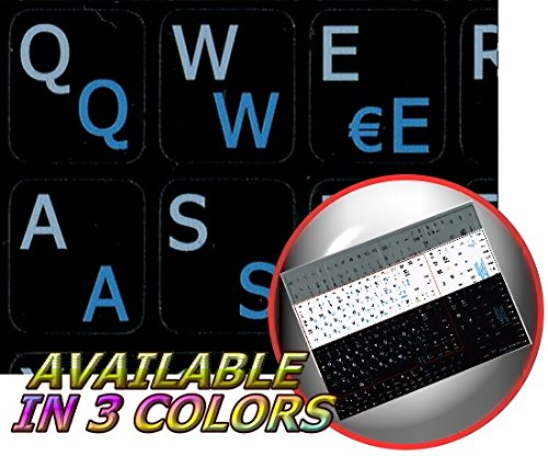 Price comparison product image SWEDISH / FINNISH - ENGLISH NOTEBOOK NON-TRANSPARENT KEYBOARD STICKERS BLACK BACKGROUND