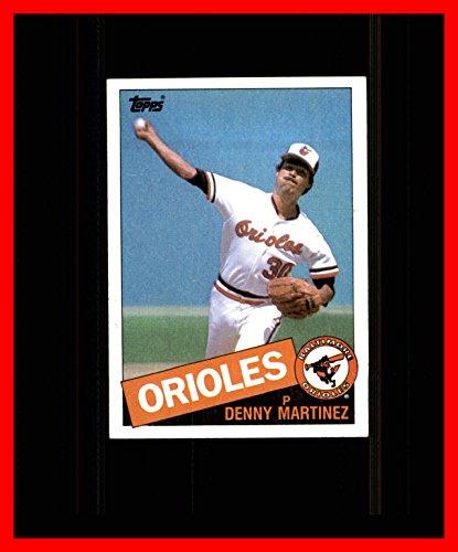 (1985 Topps #199 Dennis Martinez Denny BALTIMORE ORIOLES El Presidente)