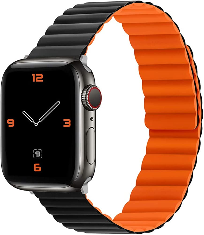 Apple Watch Band Suitable for Apple Watch Strap Silicone iwatch123456 Strap Suitable for Apple Strap Magnetic Silicone Strap