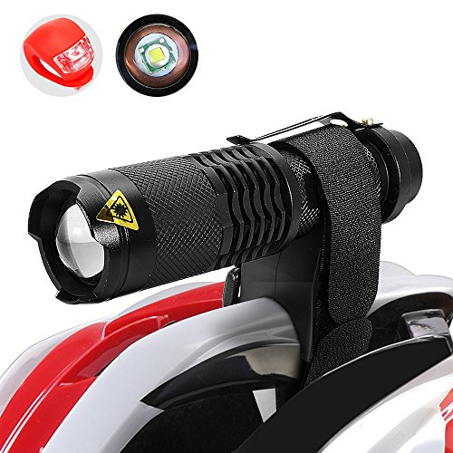 Maketheone-Bike-Bicycle-Front-Light-Headlight-Taillight-Combination-Rechargeable-Cycle-Helmet-Light-Head-Torch-Kit-Bright-FlashlightRear-Light18650-BatteryUniversal-ChargerHelmet-MountBike-Mount