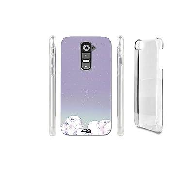 CaseLabDesigns Funda Carcasa ORSO Bianco Kawaii para LG G2 ...