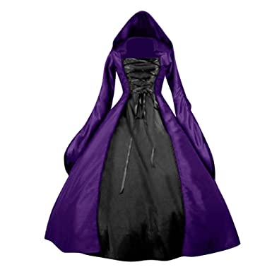 Vestido de túnica con Capucha de época Medieval de Navidad ...
