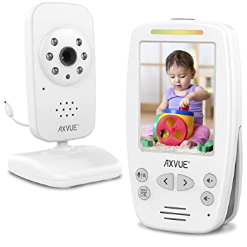 "OPEN BOX 5/"" LCD Screen and 2 Camera Axvue E632 Video Baby Monitor"