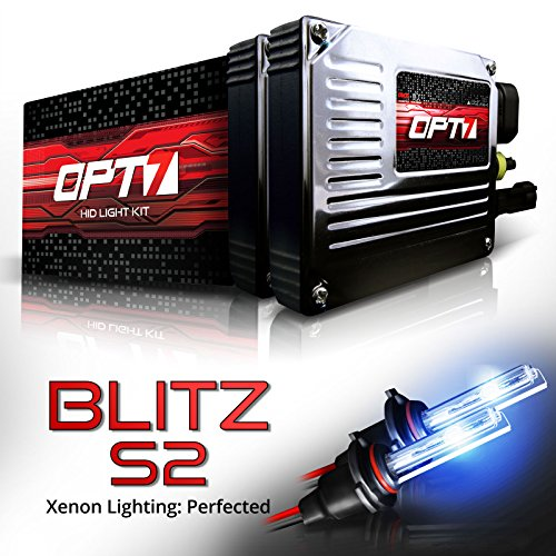 OPT7 Blitz S2 HID Xenon Kit - 3.5x Brighter - 4x Longer Life - All Bulb Sizes and (03 Eclipse Projector Hid Lights)