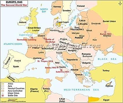 Cartina Mondo Seconda Guerra Mondiale.Europa 1945 Seconda Guerra Mondiale Mappa 91 4 Cm W X 78 Cm H Amazon It Cancelleria E Prodotti Per Ufficio