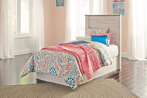 Signature Design by Ashley B267-53 Willowton headboards, White Wash (Sets Ashley Bunk Furniture Bed)